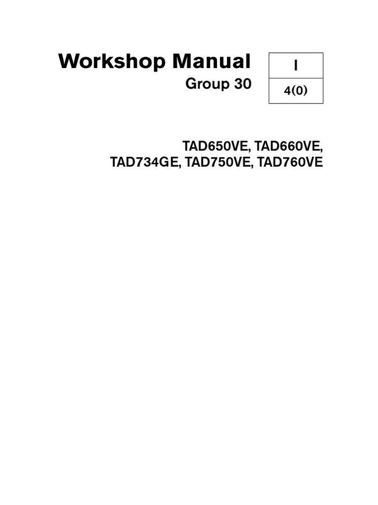 workshop manual gp 30 volvo penta tad760ve pdf fuel injection rh pt scribd com