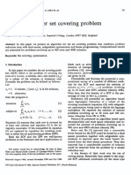 An Algorithm for Set Covering Problem