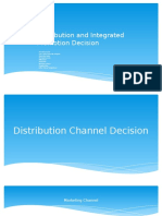 Distribution and Intergrated Promotion Decision