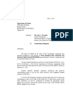 Demand Letter 2 (Payment for Outstanding Obligation)