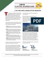 MN Gun Owners Caucus - 2015 Legislative Scorecard