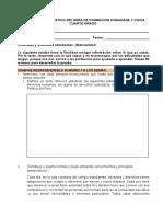 Prueba de Diagnóstico Del Área de Formacion Ciudadana y Civica 4to