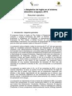 Resumen Ejecutivo_Evaluación Adaptativa en Inglés 2015