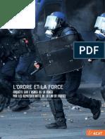 La rapport de l'ACAT sur les violences policières