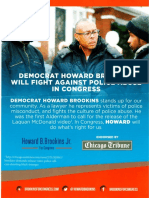 Howard Brookins mailer for Congress