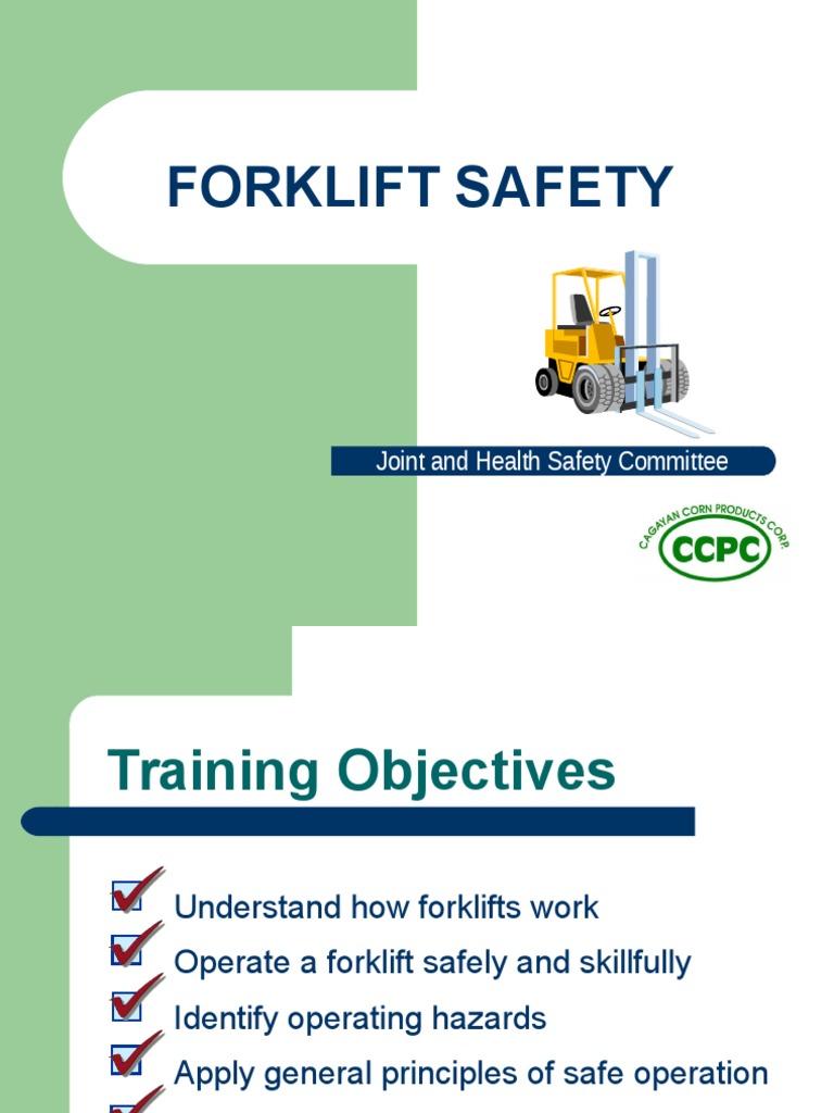 Fork Lift Training Ppt Forklift