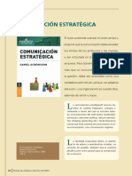 Reseña libro Comunicación estratégica de Daniel Scheinson