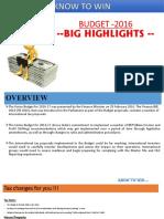 Budget Highlights -2016