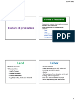 1. Factors of Production and Responsibility