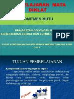 Komitmen Mutu Prajabatan Gol II 2015 Cepu