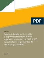 Rapport d'Audit Sur Les Coûts d'Approvisionnement