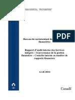 Rapport d'Audit Interne Des Services Intégrés – Gouvernance de La Gestion