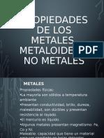 Metales, Metaloides y No Metales