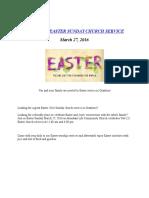 Easter Church Service Granbury