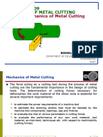 Theory of Metal Cuttingmechanics of Metal Cutting