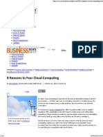 8 Reasons to Fear Cloud Computing