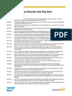 OpenSAP Big1 Week 2 Transcript