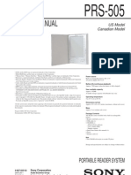 PRS 505 Manual
