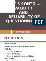 Validity and Reliability of Questionnaires