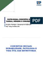 PATOLOGIA DAS CONSTRUÇÕES - CONCEITOS