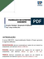 PATOLOGIA - FISSURAS