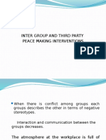 Third Party Peace Making Interventions