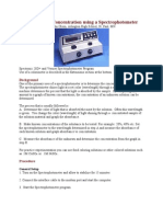 Determining Concentration Using a Spectrophotometer