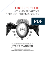 Yarker - Lectures of the Antient and Primitive Rite