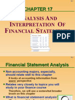 Financial Analysis and Reporting and Interpretation