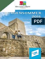 Burgensommer Oberpfälzer Wald 2016