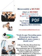 "MUNMI "" Mi Universidad de Negocios Multinivel en Internet """