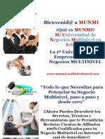 """MUNMI """" Mi Universidad de Negocios Multinivel en Internet """""""