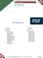 Match 27 - LPC-C3 Club