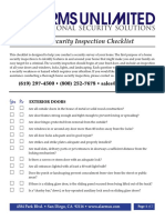 Home Security Inspection Checklist
