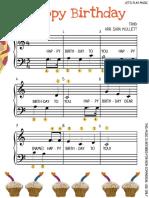 Happy Birthday Song on Piano