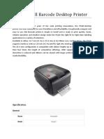Honeywell Barcode Desktop Printer
