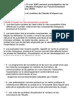 Objectifs et contenu de l'étude d'impact sur l'environnement