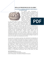 Dieta y Desarrollos Prehispanicos en Colombia