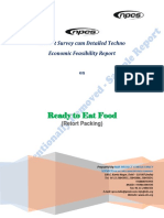Download Sample of Detailed Project Report on Ready to Eat Food