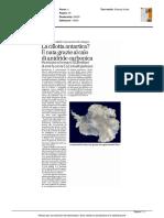 La calotta antartica? E' nata grazie al calo di anidride carbonica - Brescia Oggi del 14 marzo 2016