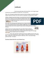 Sejarah Perusahaan sosro
