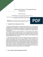 Allotment -Optimisation Strategies -Camping Revenue Management