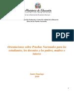 Orientaciones Pruebas Nacionales 2010