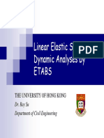 Static and Dynamic Analysis by ETABS