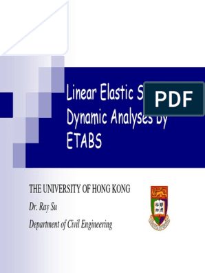 Static and Dynamic Analysis by ETABS | Spectral Density