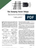 The Damping Factor Debate by George Augspurger