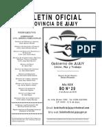 Boletín Oficial JuJuy