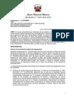 Primera resolución del JNE que rechazó apelación de Julio Guzmán
