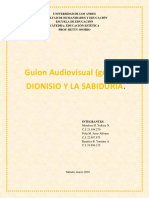 Guion Audiovisual (Grupal). Estetica. Arte Medieval. Grupo #3