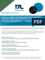 Master Gestión Proyectos FEMETAL Asturias